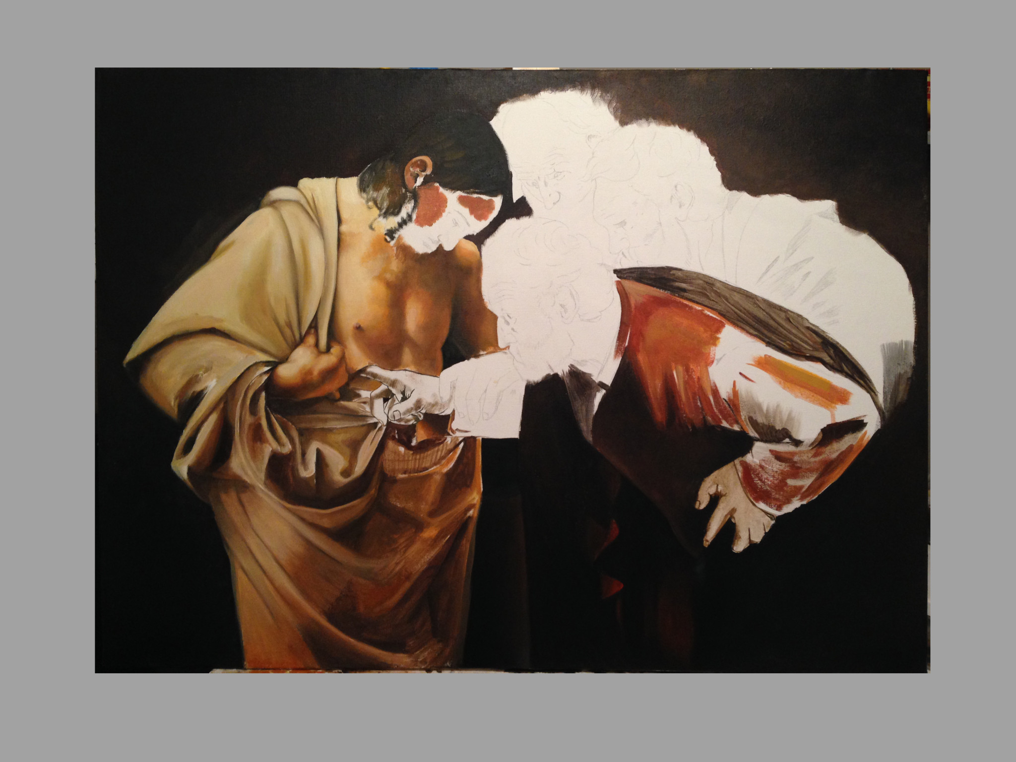 The Incredulity of Saint Thomas (Caravaggio) Timeline4